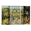 iCanvasArt Hieronymus Bosch The Garden of Earthly Delight 3 Piece on Canvas Set
