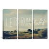 iCanvas Leah Flores Let's Run Away 3 Piece on Canvas Set