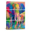 iCanvas Richard Wallich Elephant 3 Piece on Canvas Set