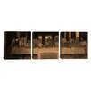 iCanvas Leonardo da Vinci The Last Supper IV 3 Piece on Canvas Set
