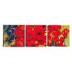 iCanvas Vincent van Gogh Vase with Daisies and Poppies 3 Piece on Canvas Set