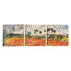 iCanvasArt Vincent van Gogh Field of Poppies 3 Piece on Canvas Set