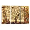 iCanvas Gustav Klimt The Tree of Life 3 Piece on Canvas Set