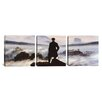 iCanvasArt Caspar David Friedrich The Wanderer Above The Sea of Fog 3 Piece on Canvas Set