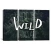 iCanvas Where the Wild Things Are by Leah Flores 3 Piece on Canvas Set