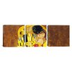 iCanvasArt Gustav Klimt The Kiss 3 Piece on Canvas Set