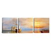 iCanvasArt J.M.W Turner Fighting Temeraire 3 Piece on Canvas Set