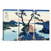 iCanvas Katsushika Hokusai Lake Suwa in The Shinano Province 3 Piece on Canvas Set