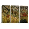 iCanvas Henri Rousseau Tiger in a Tropical Storm (Surprised) 3 Piece on Canvas Set