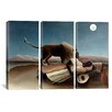 iCanvasArt Henri Rousseau Sleeping Gypsy 3 Piece on Canvas Set