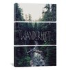 iCanvas Leah Flores Wanderlust Rainier Creek 3 Piece on Canvas Set