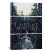 iCanvasArt Leah Flores Wanderlust Rainier Creek 3 Piece on Canvas Set