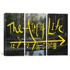 iCanvasArt Leah Flores Aim of Life 3 Piece on Canvas Set