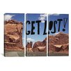 iCanvas Leah Flores Get Lost 3 Piece on Canvas Set