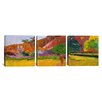 iCanvas Paul Gauguin Tahitian Landscape 3 Piece on Canvas Set