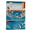 iCanvas Katsushika Hokusai The Crashing Waves 3 Piece on Canvas Set