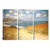 iCanvasArt Claude Monet Path Through The Corn At Pourville 3 Piece on Canvas Set