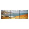 iCanvas Claude Monet Path Through The Corn At Pourville 3 Piece on Canvas Set