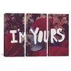 iCanvas Leah Flores I'm Yours 3 Piece on Canvas Set
