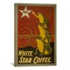 iCanvasArt Vintage Posters 'White Star Coffee Brand Label' Vintage Advertisement on Canvas