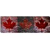 iCanvas Canadian Flag, Maple Leaf Panoramic Graphic Art on Canvas