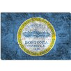 <strong>iCanvasArt</strong> Boston, Massachusetts Flag, Grunge Vintage Map Graphic Art on Canvas