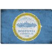 iCanvas Boston, Massachusetts Flag - Grunge Painted Graphic Art on Canvas