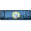 iCanvas Boston, Massachusetts Flag, Grunge Panoramic Graphic Art on Canvas