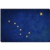 iCanvas Alaska Flag, Grunge Painted Graphic Art on Canvas