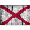 iCanvas Alabama Flag, Boards Grunge Painted Graphic Art on Canvas