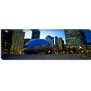 iCanvas Panoramic Buildings in a City, Cloud Gate, Millennium Park, Chicago, IL Photographic Print on Canvas
