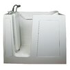 "<strong>Ella Walk In Baths</strong> Small 40"" x 45"" Long Air Massage Walk-In Bathtub"