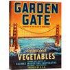 Bentley Global Arts 'Garden Gate Selected Vegetables' by Retrolabel Vintage Advertisement on Canvas