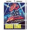 <strong>Bentley Global Arts</strong> 'Robo Tank' by Retrobot Vintage Advertisement on Canvas