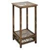 Cooper Classics Folly Pedestal End Table