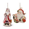 Fitz and Floyd Regal Holiday 2 Piece 2014 Bell and Ornament Set