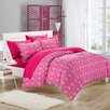 Chic Home Tina Printed Contemporary 2 Piece Twin Duvet Cover Set