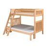 Twin Over Full Bunk Bed with Angle Ladder and Mission Headboard