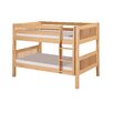 Camaflexi Low Bunk Bed with Mission Headboard