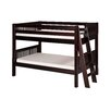 <strong>Camaflexi</strong> Low Bunk Bed with Lateral Angle Ladder and Mission Headboard