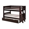 <strong>Low Bunk Bed with Lateral Angle Ladder and Trundle</strong> by Camaflexi