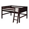 Camaflexi Full Low Loft Bed with Mission Headboard