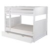 <strong>Full over Full Bunk Bed with Trundle and Panel Headboard</strong> by Camaflexi