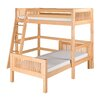Camaflexi Twin Over Twin L-Shape Loft Bed with Mission Headboard