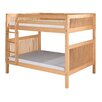 Camaflexi Full Over Full Bunk Bed with Mission Headboard