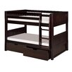 <strong>Camaflexi</strong> Low Bunk Bed with Drawers and Panel Headboard