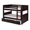 Camaflexi Low Bunk Bed with Trundle and Panel Headboard