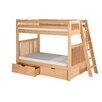Camaflexi Twin Over Twin Standard Bunk Bed with Lateral Angle Ladder