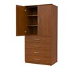 Marco Group Inc. Mobile CaseGoods Tall Storage Cabinet with Locking Drawers and 2 Adjustable stable Shelves