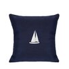 Nantucket Bound Sunbrella Pillow With Embroidered Sailboat